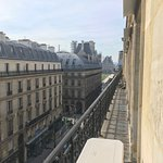 View south from 5th floor front, towards the Louvre and Tuileries Garden