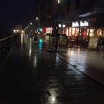 Marina in the rain