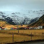 the farm and the Eyafjallajokull volcano
