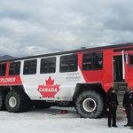 Ice vehicle on the glacier