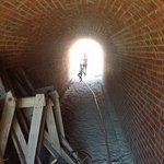 tunnel exploration in Fort Clinch