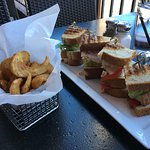 Club sandwich with wonderful french fries