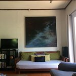 Lovely daybed and art at Eyrie House