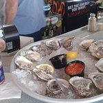 Oysters and beer at Mulligans