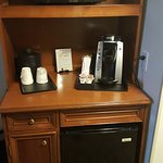 In room Keurig coffee maker, Microwave and mini-frige