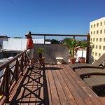 Rooftop deck, sunbathing area