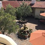 View from our room of the courtyard