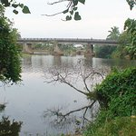 Pamba in its abundance - Bridge over Achankovil tributary