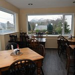 The bar area with a view of Snowdon