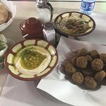 Our dinner at Hashem, which was good enough for two