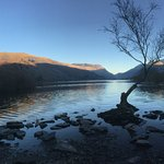 Lake Padarn - across the road from our front door!