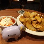Happy Hour with Clancy the sheep - potato wedges!