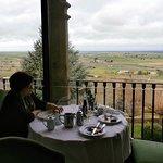 Desayuno con unas vistas espectaculares.