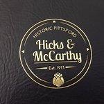 Hicks & McCarthy - logo on menu