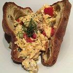 Scrambled eggs popover