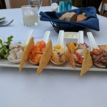 Amazing Ceviche-local, fresh, tasty! Fun experience to try them all.