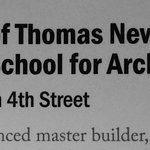 Thomas Nevell, School of Architects, 1771, (Carpenters Guild pic)