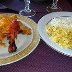 Riz, Riz au curi et poulet tandoori