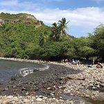 The beach is rocky but great for snorkeling