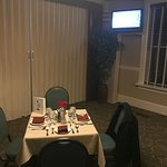 Our own private room and table