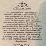 History of Oriental noted on the meu