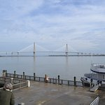 The view of the Ravenal Bridge from Patriots Point.