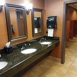 The Lobby Bathroom. Very clean and accommodating.