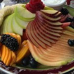 Wonderful fruit plate shared by the four of us.