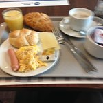 Breakfast at Best Western Amedia Praha