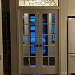 Custom leaded glass transom from SunCatchers Design