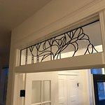 Custom leaded glass transom from SunCatchers Design