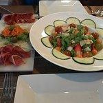 Tabla Espanola (left) and Mixed Salad (right)
