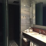 Great vanity area and surround shower