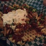 Pound O'Sheamus Fries with sour cream and gravy!!!