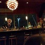 eating at the bar