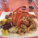 Cajun boil at The Crazy Lobster - yummy!