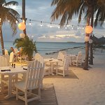 Beach dining at resort
