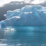 Sunshine through iceberg