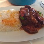 Lamb shank special - after it is plated