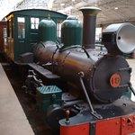 Locomotiva na estação.