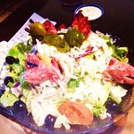 Antipasta salad with dressing