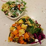 Amazing salads at the food court in Queen Street Plaza