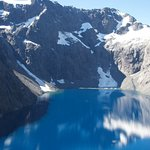Lake from the helicopter ride Dawn arranged for us over the Southern Alps