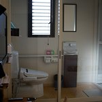 toilet and the bathroom always seperated in most japanese hostel, so pertty good