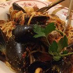 Seafood pasta - the sauce was so good it was all licked up....