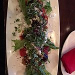 Baby Beet and Colorado Goat Cheese Salad is fabulous but too small