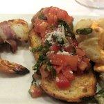 Appertizer Course - Shrimp, Bruscetta, Calamari, Ristorante Allegria Napa, Ca