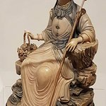 Asian ivory sculpture, hand stained.