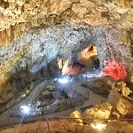 The cavern, 220 feet underground. Fresh air, limestone smell.