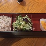 Bento boxes.  Stones in beautiful glass sink.
